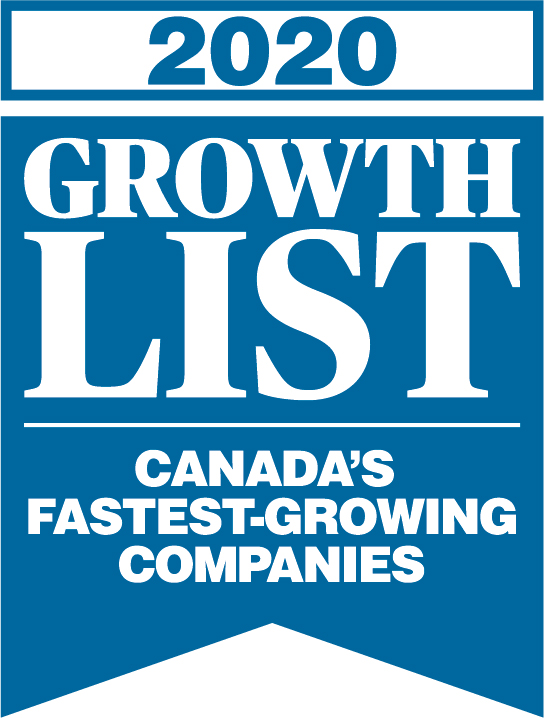 202 Growth List Badge for Canada's Fastest-Growing Companies